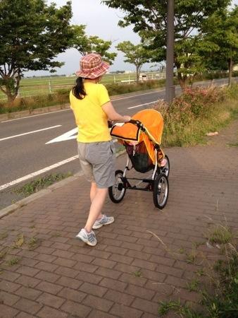 エアバギーランでお散歩しているところ。安定感バツグンでした。